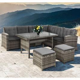 Polyrattan Lounge / Sitzgruppe in beige/grau