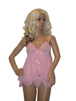 Verführerisches Baby Doll Negligé in rosa