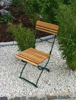 Gartenstühle Holz Robinie Gestell dunkelgrün pulverbeschichtet zwei Stück