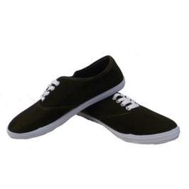 Sommerlicher Damen Sneaker Turnschuhe Stoffschuhe in schwarz