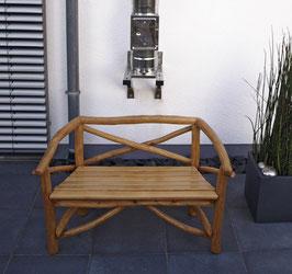 Knüppelholzbank Gartenbank 130 cm