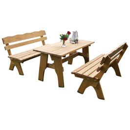 Garnitur Sitzgruppe 3-teilig Kiefer massiv 150 cm