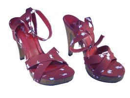 Sportlich eleganter Sandaletten Pumps in rot