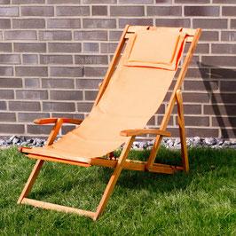 Relax Sonnenliege Akazien Holz verstellbar in orange