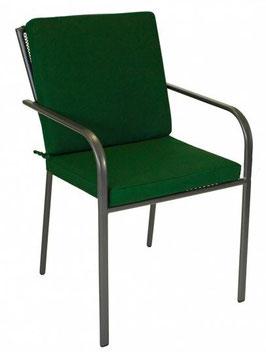 Universal Auflage für Gartenstuhl in dunkelgrün