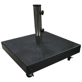 Schirmständer quadratisch 50 kg aus Granit in schwarz