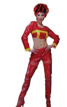 Feuerwehr Frau in rot Größe 36