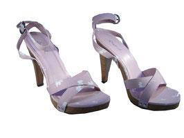 Sportlich eleganter Sandaletten Pumps in rosa Größe 37