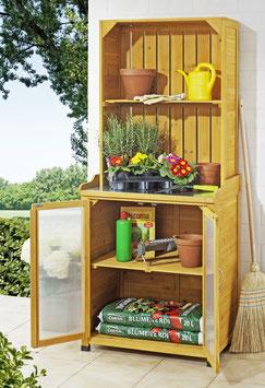 Gartenschrank mit Regalaufsatz Pflanztisch 75 cm