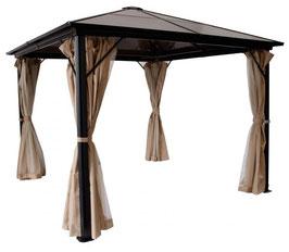 Exklusiver Pavillon Dach aus Kunststoffplatten 3x3 meter  in beige