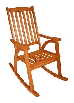 Schaukelstuhl Stuhl Eukalyptusholz geölt braun
