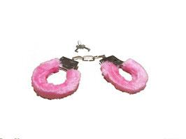1 Paar Handschellen in rosa inklusive zwei Schlüssel