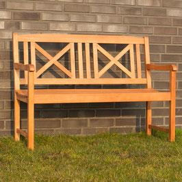 Gartenbank 2-Sitzer aus Yellow Balau geölt 120 cm