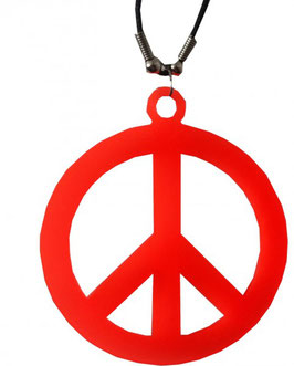 Hippie Peacekette in orange und silberfarben