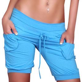 Bequeme Hot Pants kurze Hose in türkise Größe 34-36