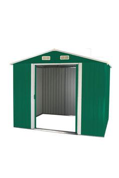 Gerätehaus Geräteschuppen aus Metall 205 x 257 x 177,5 cm in grün/weiß