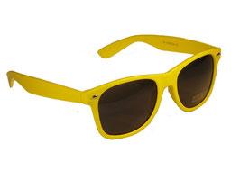 Sonnenbrille im Wayfarer Style in gelb