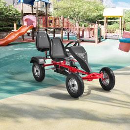 2 Sitzer Go-Kart Kinder Tretauto in rot