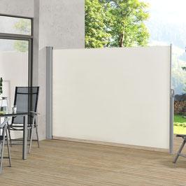 Seitenmarkise für Terrasse Balkon und Garten in beige 300 x 200 cm