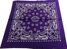 Bandana Kopf- oder Halstuch in lila