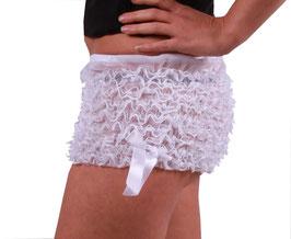 Edler Rüschen Panty in weiß