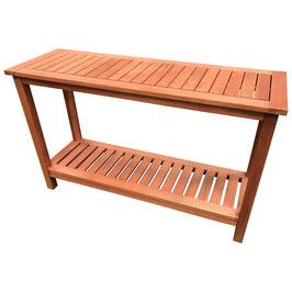 Konsolentisch Gartentisch Holz Eukalyptus 122 x 41 cm