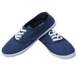 Sommerlicher Damen Sneaker Turnschuhe Stoffschuhe in dunkelblau