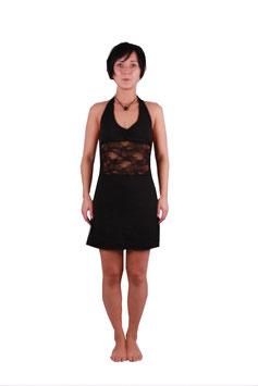 Neckholder Minikleid in schwarz