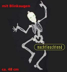 leuchtendes Skelett mit Blinkaugen 48 cm
