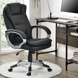 Schreibtischstuhl drehbar in schwarz