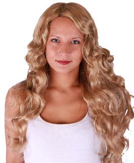 Lockige Langhaar Perücke in blond