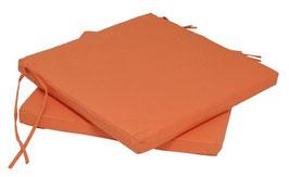 Sitzpolster Stuhlauflagen in terracotta 41 x 30 cm