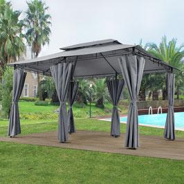 Garten Pavillon  3 x 4 Meter in dunkelgrau