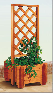 Pflanzenkübel Blumengitter aus Holz 55 x 55 cm