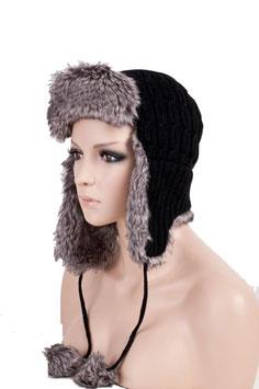 Wintermütze Mütze in schwarz Einheitsgröße