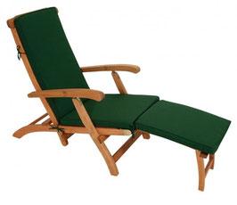 Universal Auflage Deckchair 176 x 48 cm in dunkelgrün