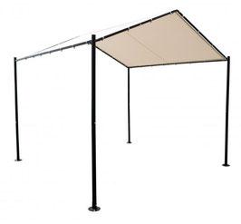 Pavillon Sonnendach 3x3 Meter in ecru