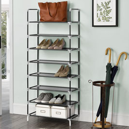 Schuhregal mit acht Ebenen für 24 Paar Schuhe