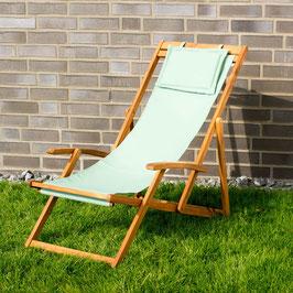 Relax Sonnenliege Akazien Holz verstellbar in grün