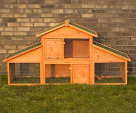 Kaninchenstall Hasenstall Kleintierhaus mit Auslauf 210 cm