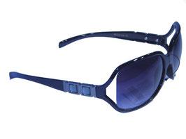 Stilvolle Sonnenbrille mit Schmuckbügeln und Verlaufsgläsern in schwarz