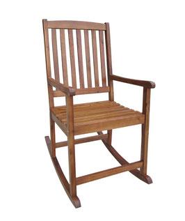 Schaukelstuhl Stuhl Akazie geölt braun