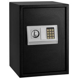 Safe Secure Tresor mit elektronischem Zahlenschloß in anthrazit   35 x 50 cm