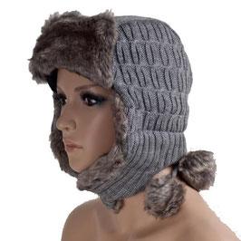 Wintermütze Mütze in grau Einheitsgröße