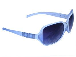 Stilvolle Sonnenbrille mit Schmuckbügeln und Verlaufsgläsern in weiß-grau