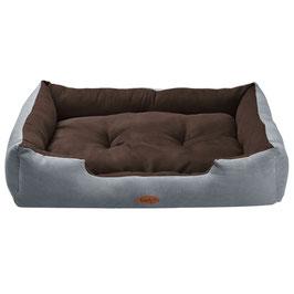 Hundekorb Hundebett in grau-braun Größe XL 70 × 90 cm