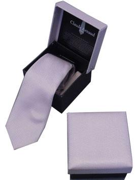 Edle Krawatte Schlips in attraktiver Geschenkbox in rosa