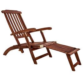 Gartenliege Liege Deckchair verstellbar Akazie Holz