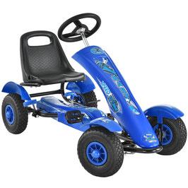 1 Sitzer Go-Kart Kinder Tretauto in blau