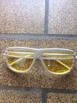 Halfshade Shutter Shades Rahmen weiß Gläser gelb